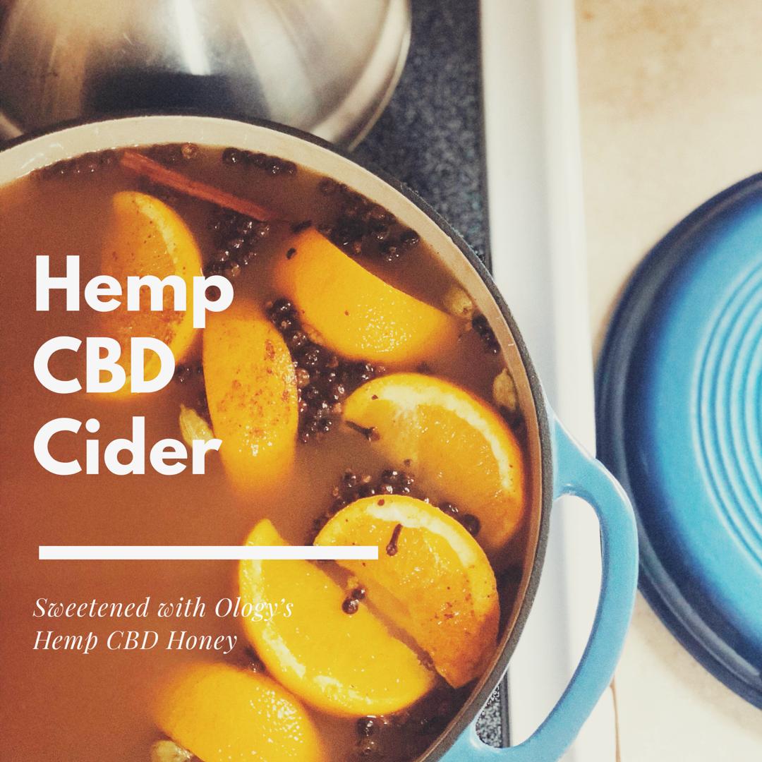 Cider Recipe with Hemp CBD Honey Recipe - Ology Essentials